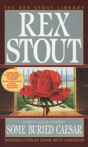 image of book cover, Some Buried Caesar by Rex Stout